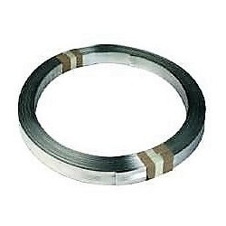 Down conductor lightning. Flat section in galvanized steel 105mm²