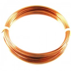 Down conductor lightning. Round section in solid copper Ø8mm