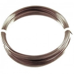 Down conductor lightning. Round section in solid aluminum Ø8mm
