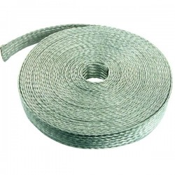 Flexible flat braid for equipotential bonding. Standardized sections in tinned copper.